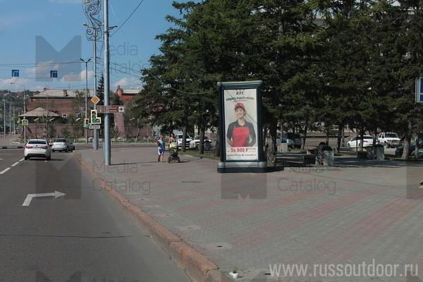 Ситиформат (Пиллары 3х1.4): Красноярск, Вейнбаумана ул. Х Карла Маркса ул.. Сторона А (№159452)