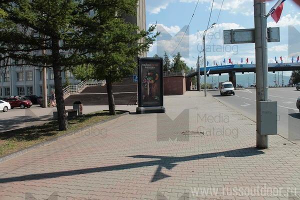 Ситиформат (Пиллары 3х1.4): Красноярск, Вейнбаумана ул. Х Карла Маркса ул.. Сторона Б (№159453)